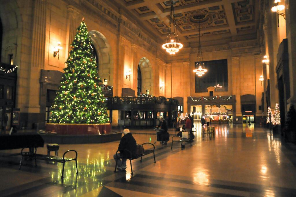 The Christmas tree in Kansas City's Union Station.