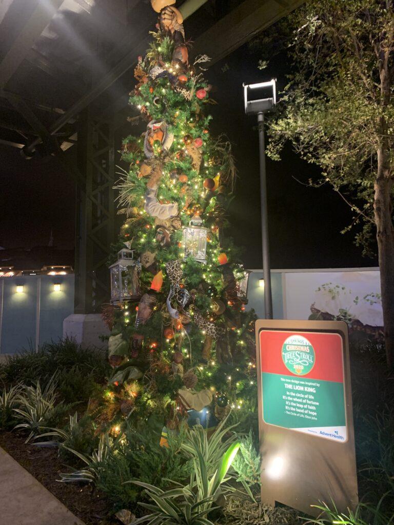 The Christmas Tree Stroll at Disney Springs.