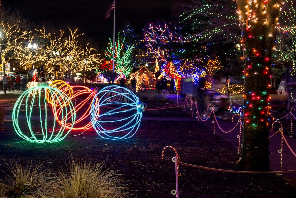 The Christmas Village in Ogden, Utah.