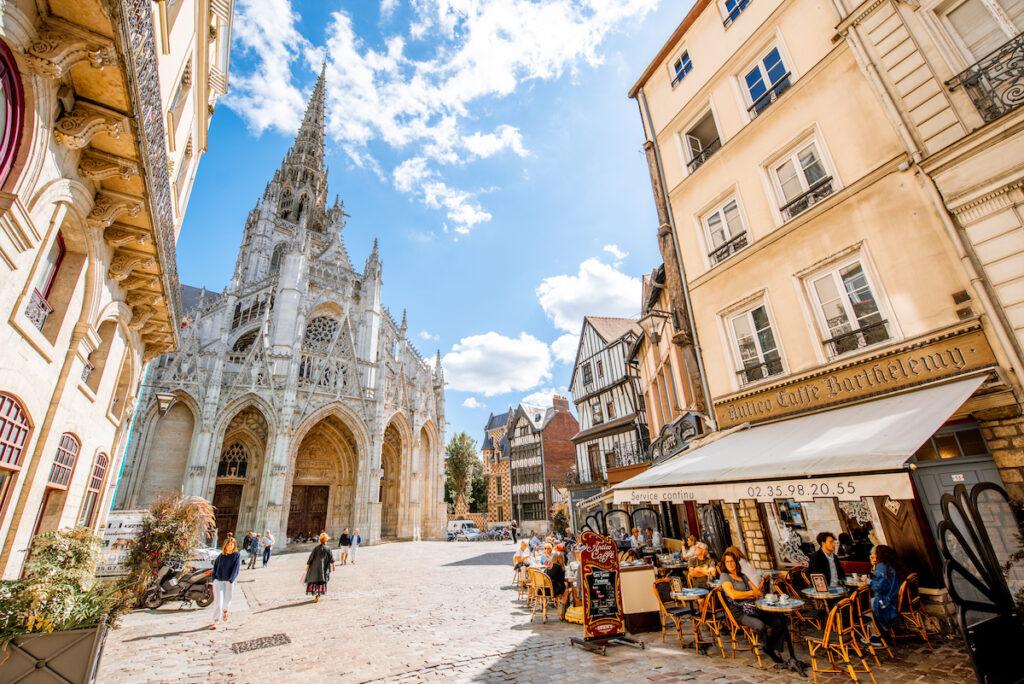 The Church of Saint-Maclou in Rouen, France.