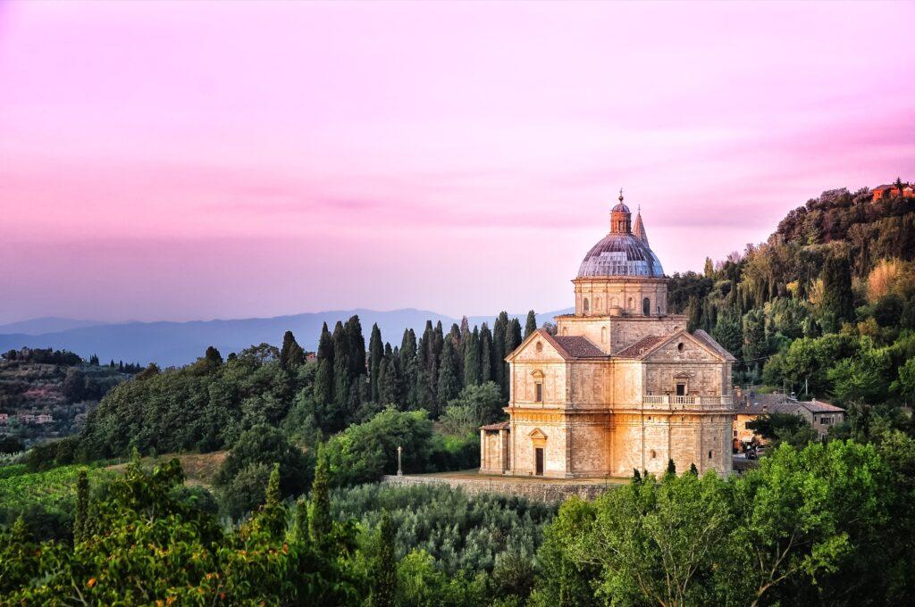 The Church of the Madonna di San Biagio.