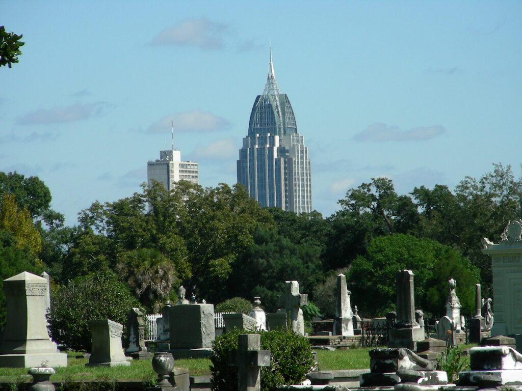 The Church Street Graveyard in Mobile, Alabama.