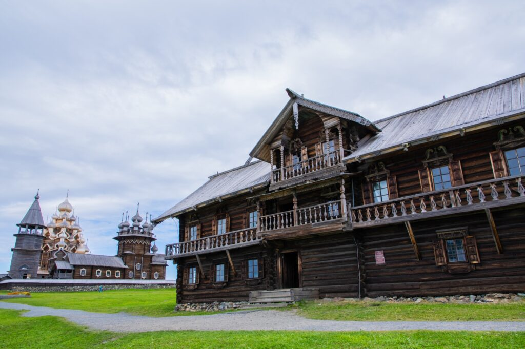 The churches on Kizhi Island in Russia.
