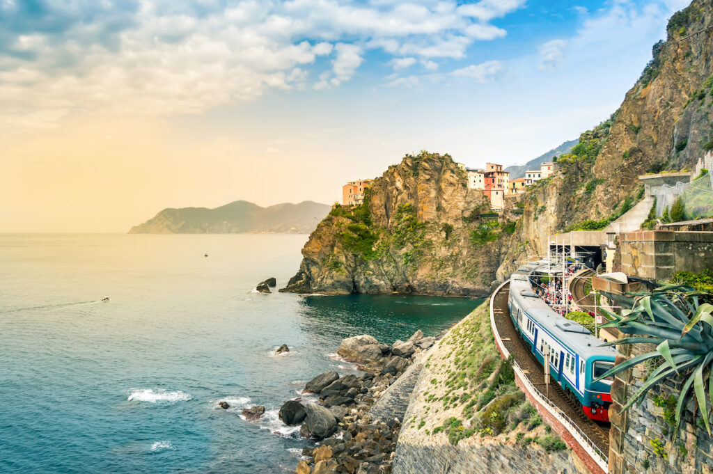 The Cinque Terre Express in Italy.
