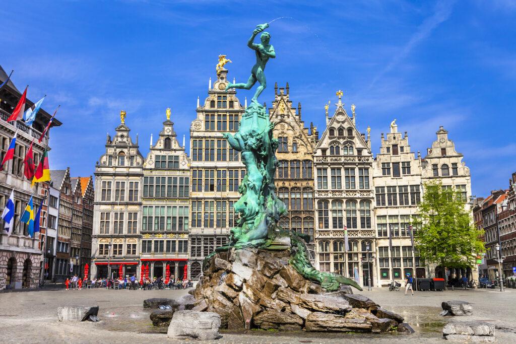 The city of Antwerp, Belgium.