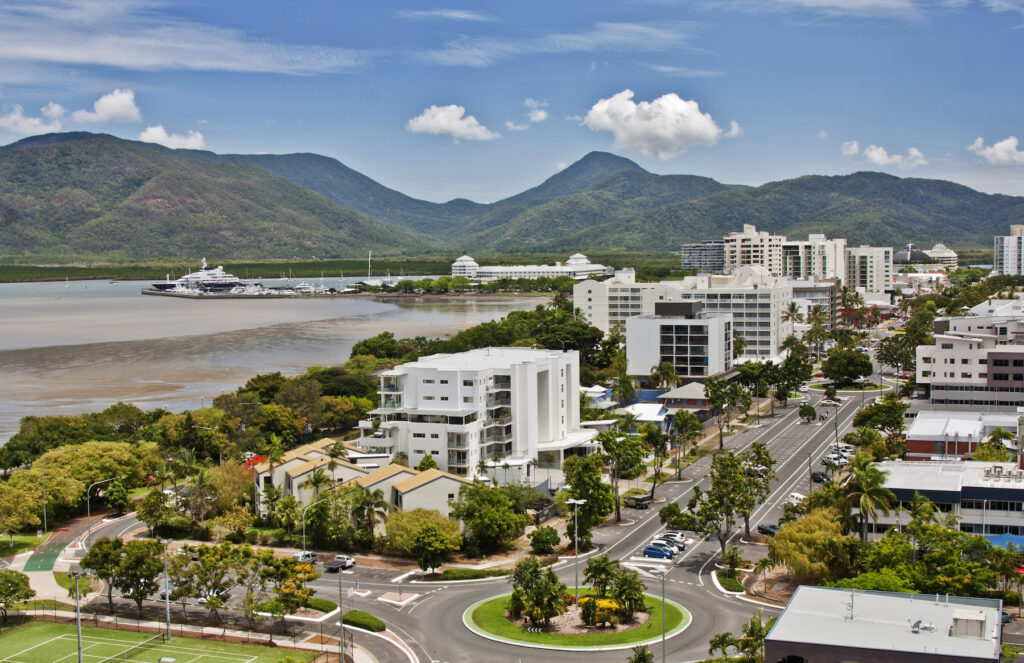 The city of Cairns, Australia.