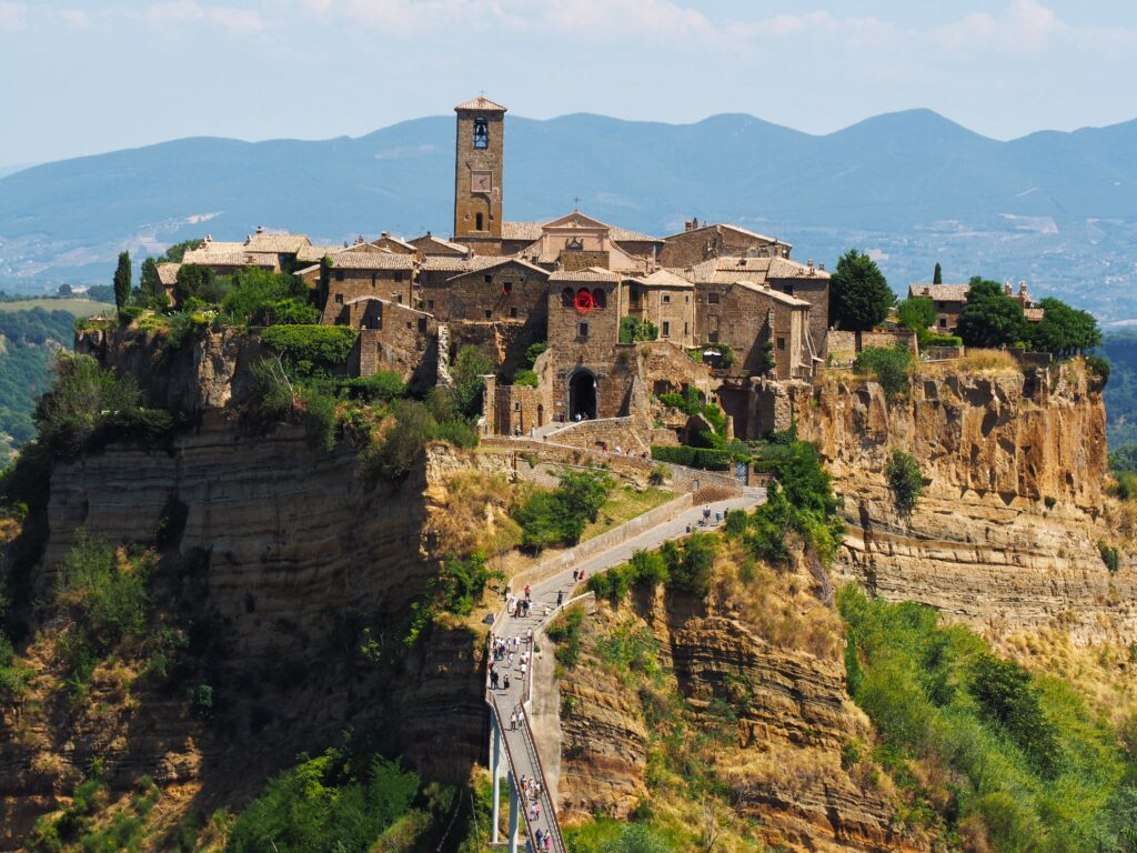 The city of Civita di Bagnoregio, Italy.