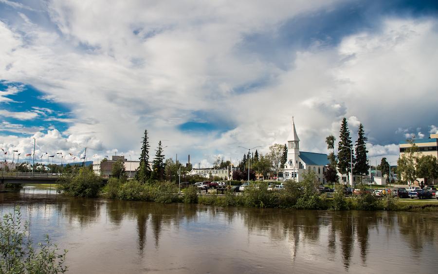 The city of Fairbanks, Alaska.