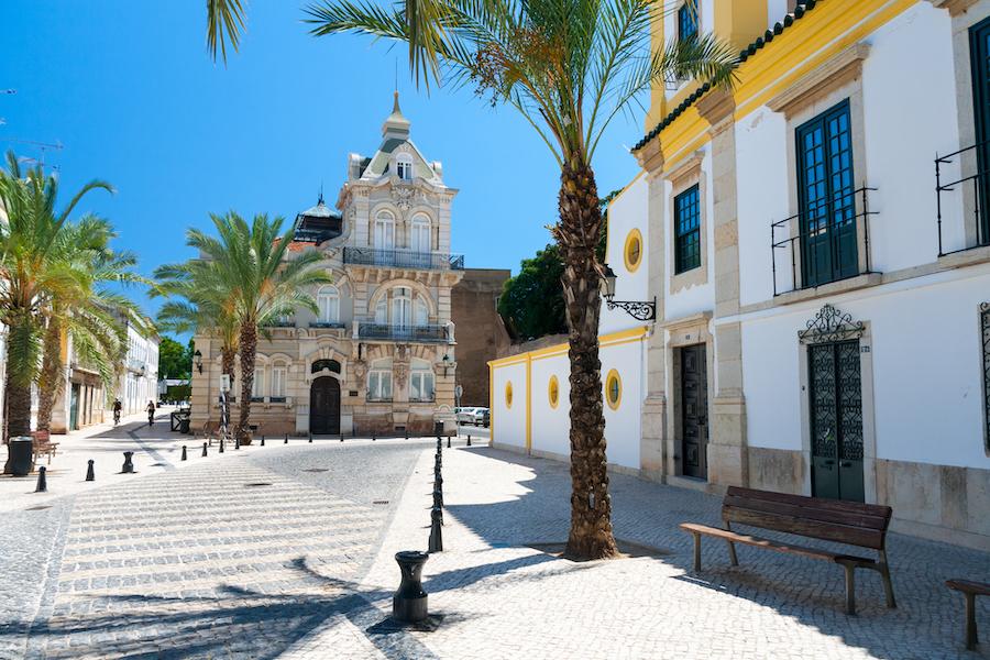 The city of Faro in the Algarve region of Portugal.