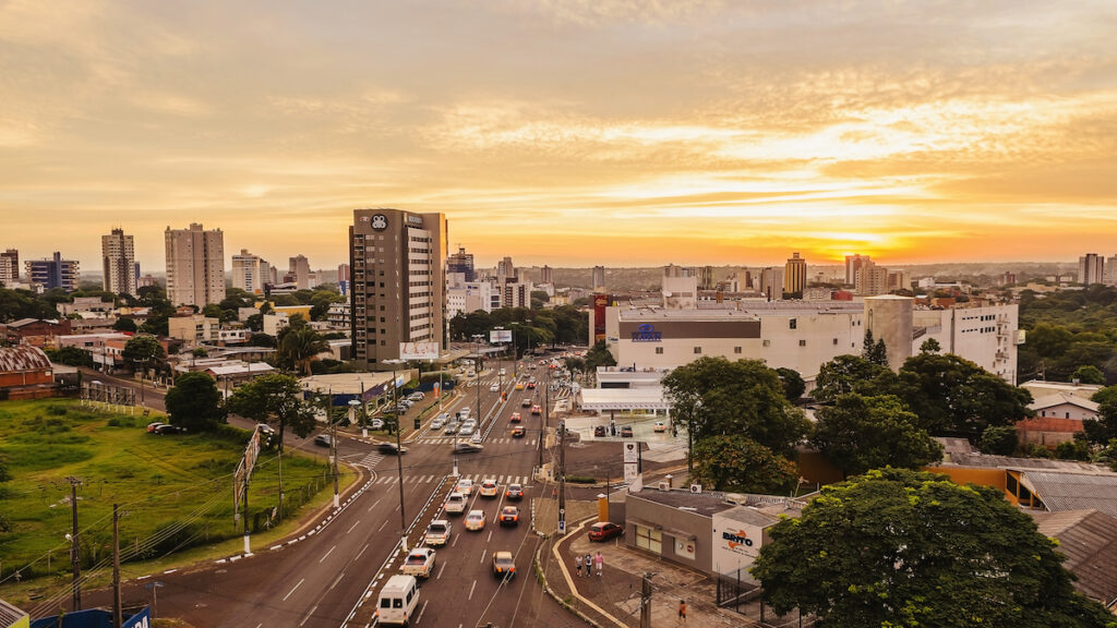 The city of Foz do Iguacu, Brazil.