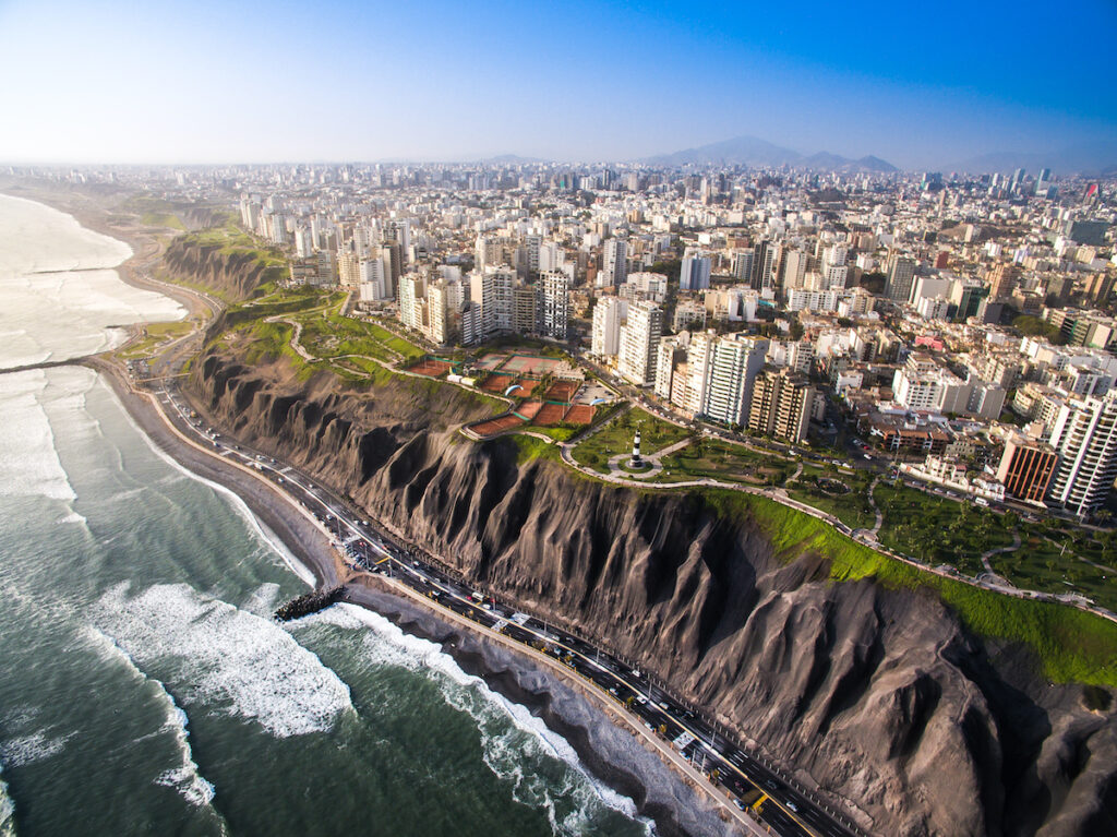 The city of Lima, Peru.