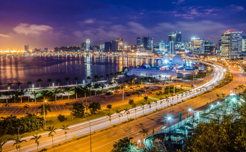 The city of Luanda in Angola.