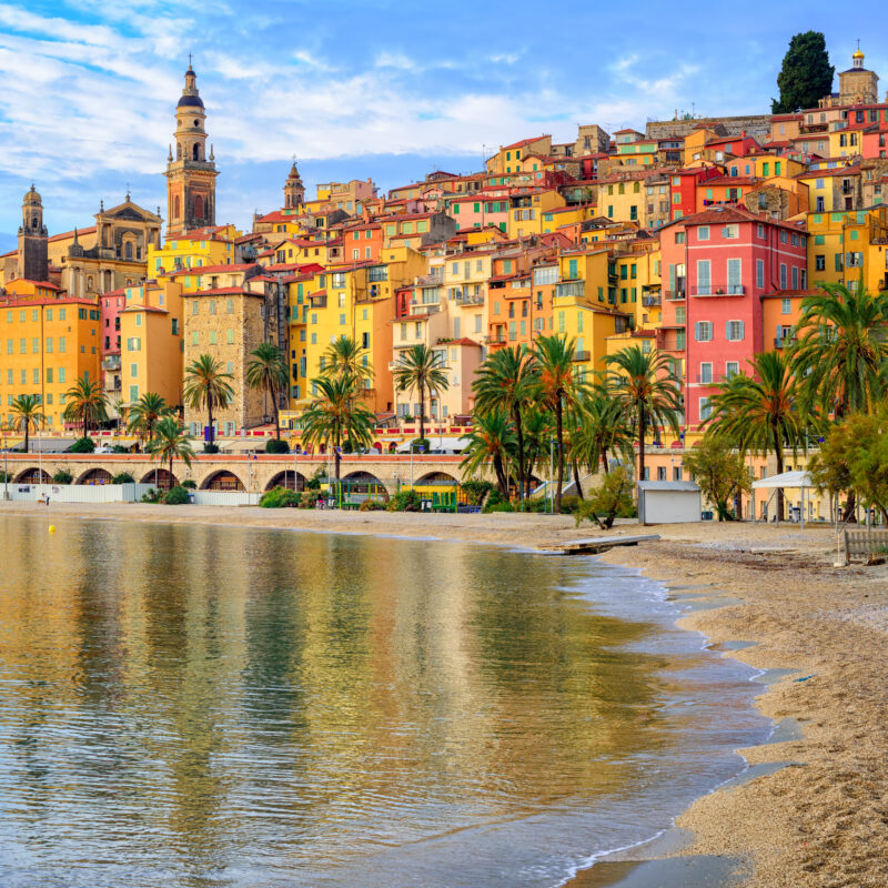 The city of Menton in France.