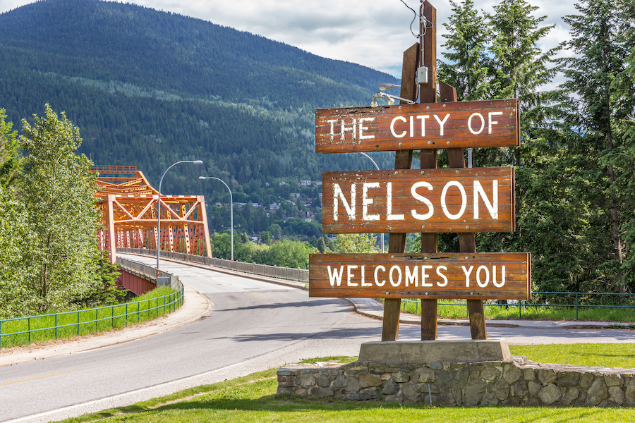 The city of Nelson, Canada.