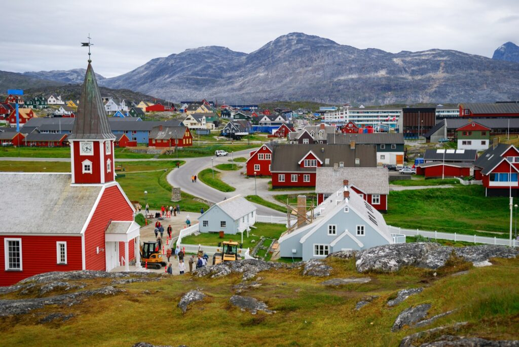 The city of Nuuk in Greenland.