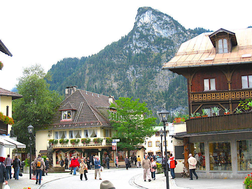 The city of Oberammergau, Germany.