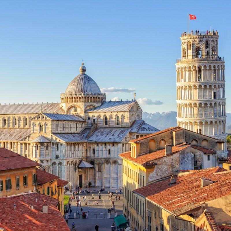 The city of Pisa in Italy.