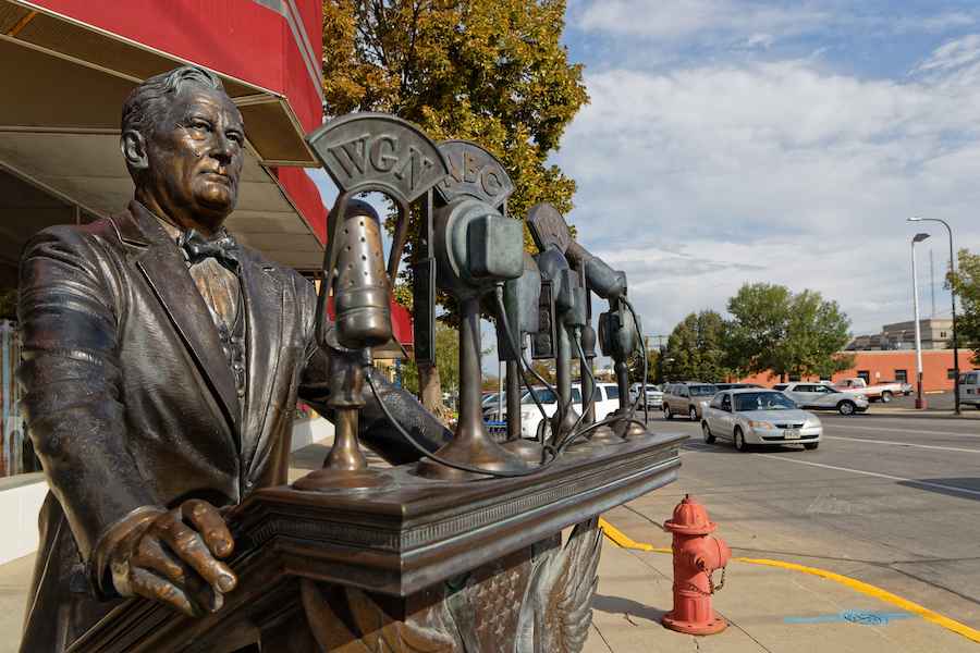 The City of Presidents sculpture walk in Rapid City.