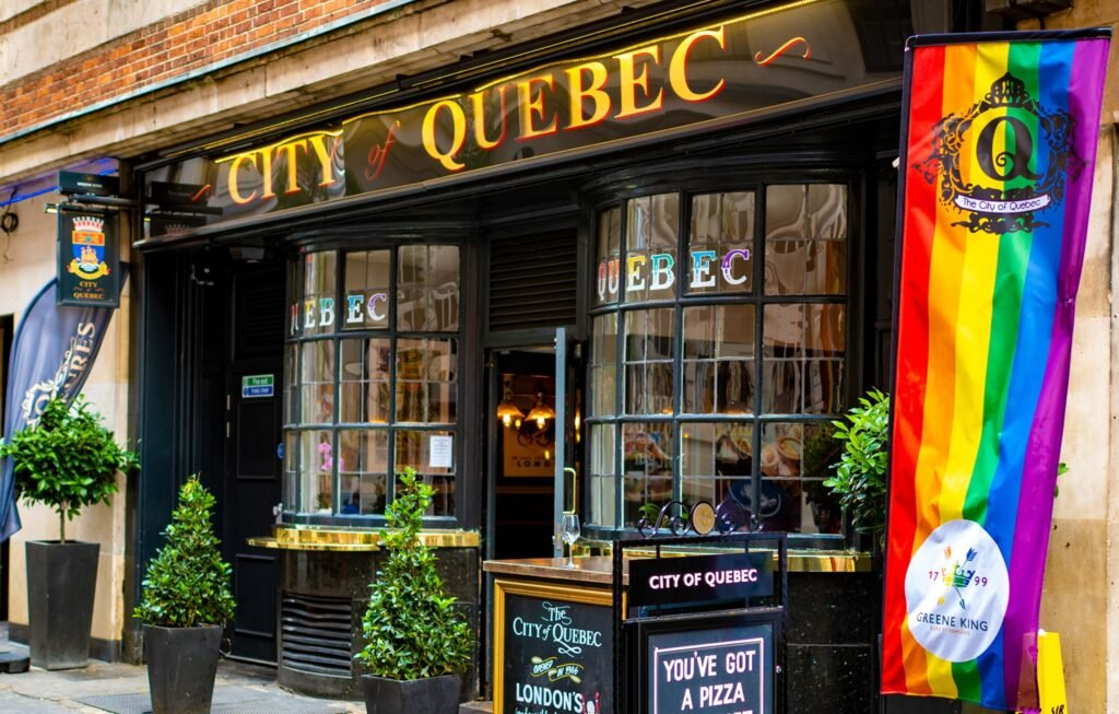 The City Of Quebec pub in London.
