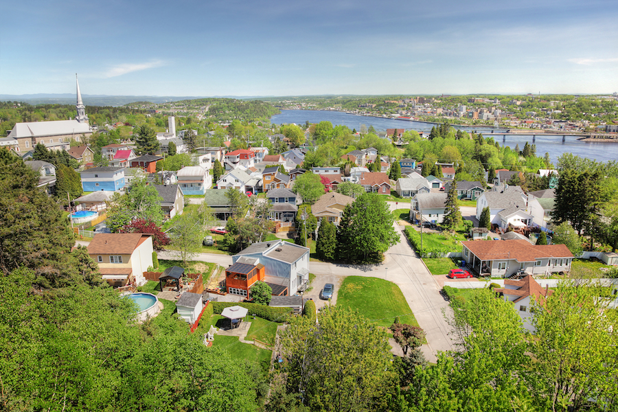 The city of Saguenay in Quebec.
