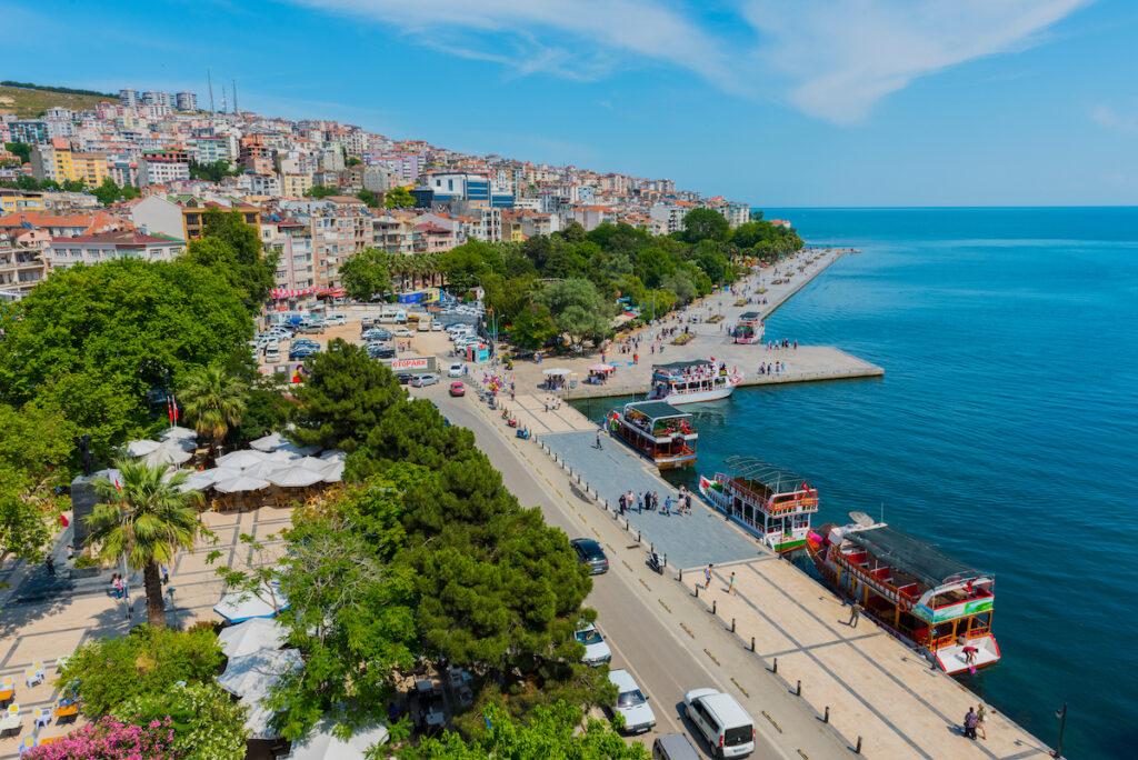 The city of Sinop on the Black Sea Coast of Turkey.