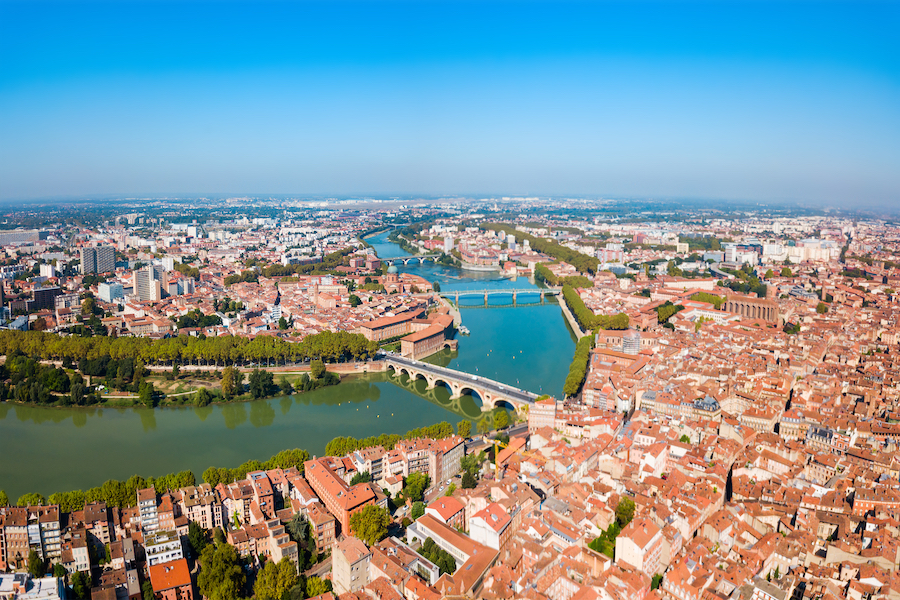 The city of Toulouse, France.