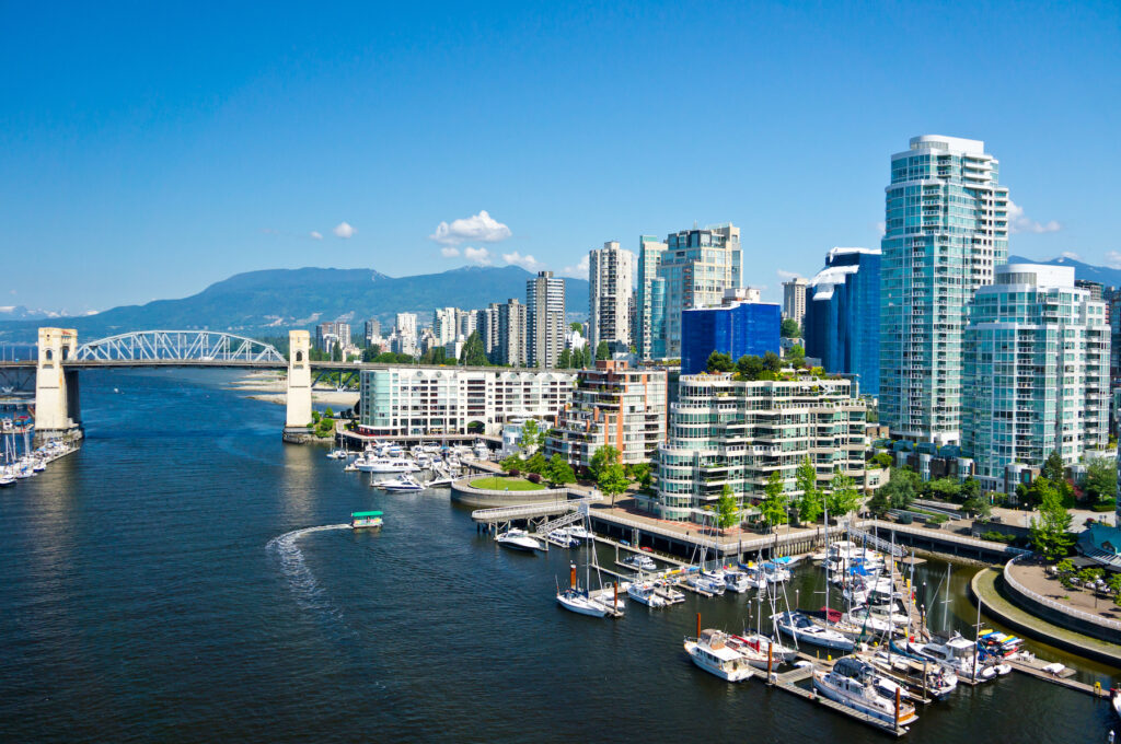 The city of Vancouver, Canada.