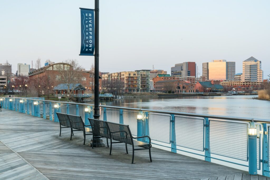 The city of Wilmington in Delaware.