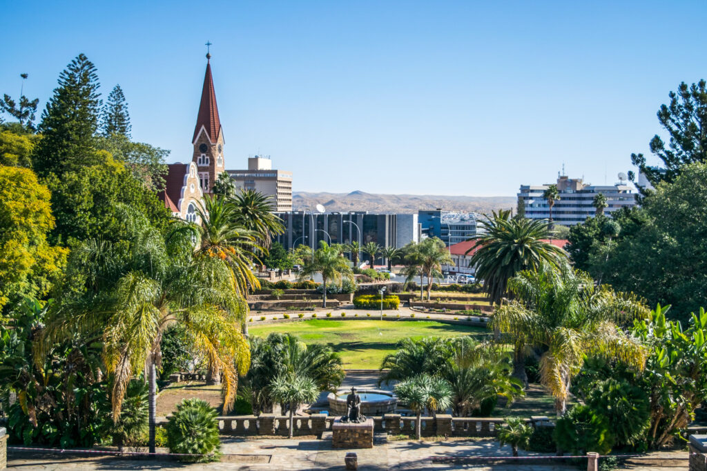 The city of Windhoek in Namibia.