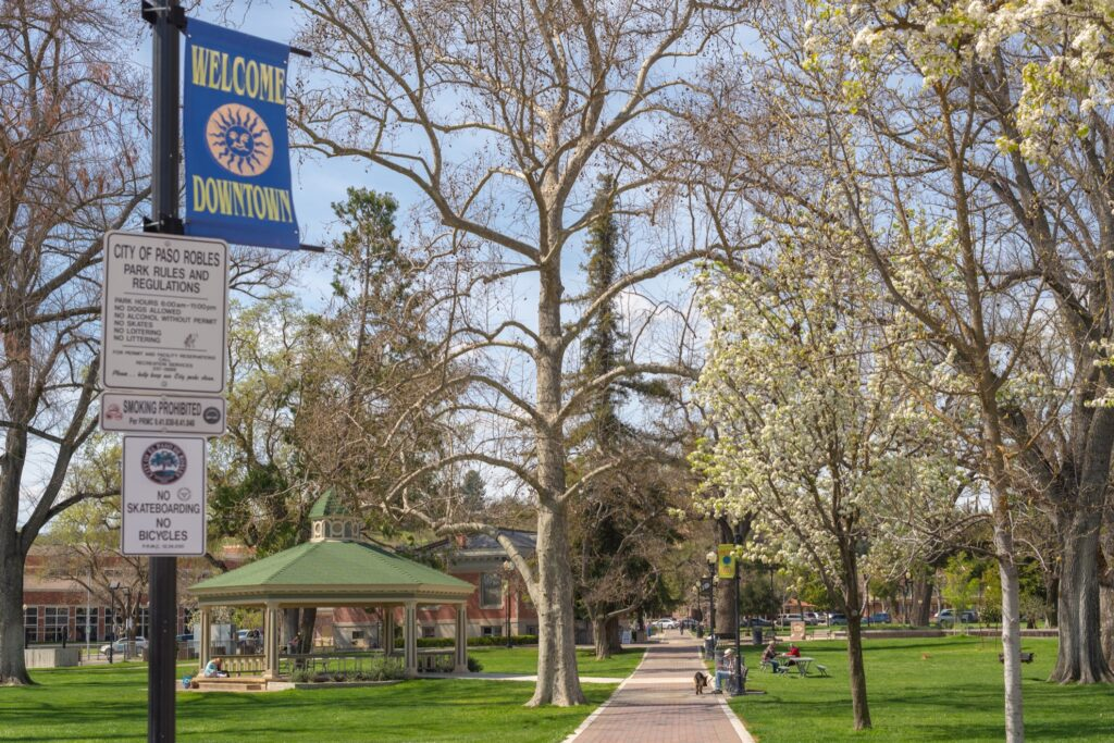 The City Park in downtown Paso Robles.