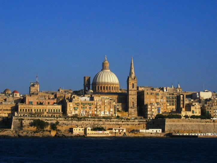 The city skyline of Valletta, Malta