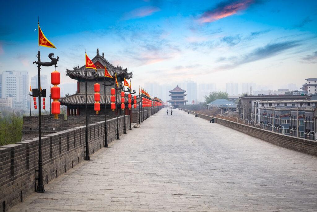 The City Wall surrounding Xi'an.