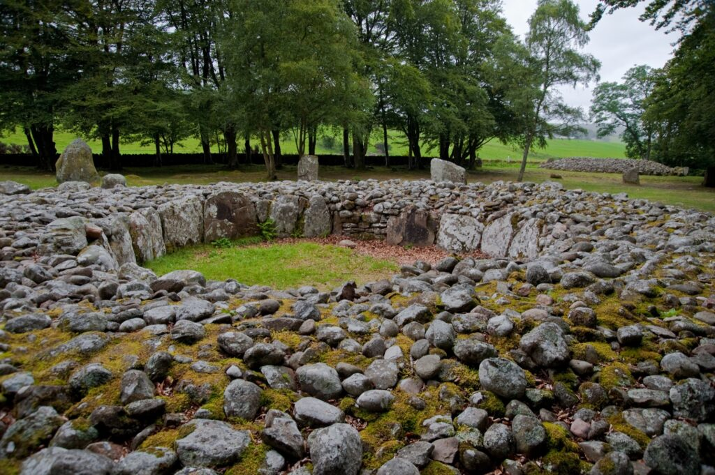 The Clava Cairns in the Scottish Highlands.