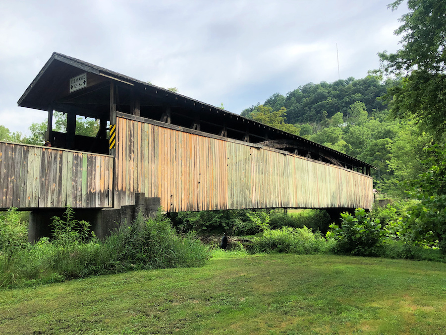 The Claycomb Covered Bridge in Bedford County.