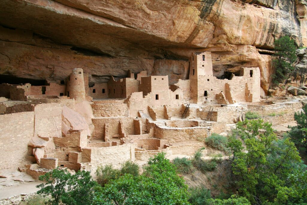 The cliff dwellings at Mesa Verde National Park.