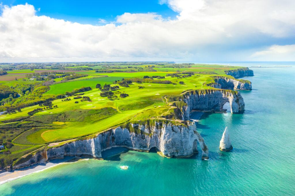 The cliffs of Etretat, France.