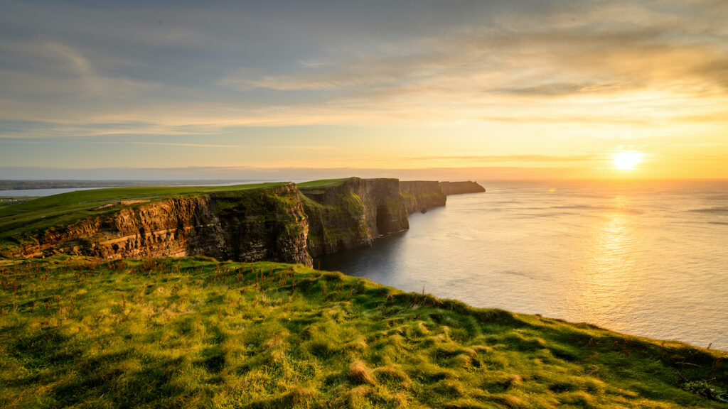 The Cliffs of Moher in Ireland.