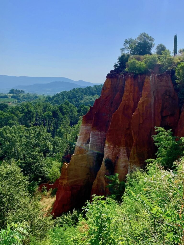 The cliffs of Roussillon, France.
