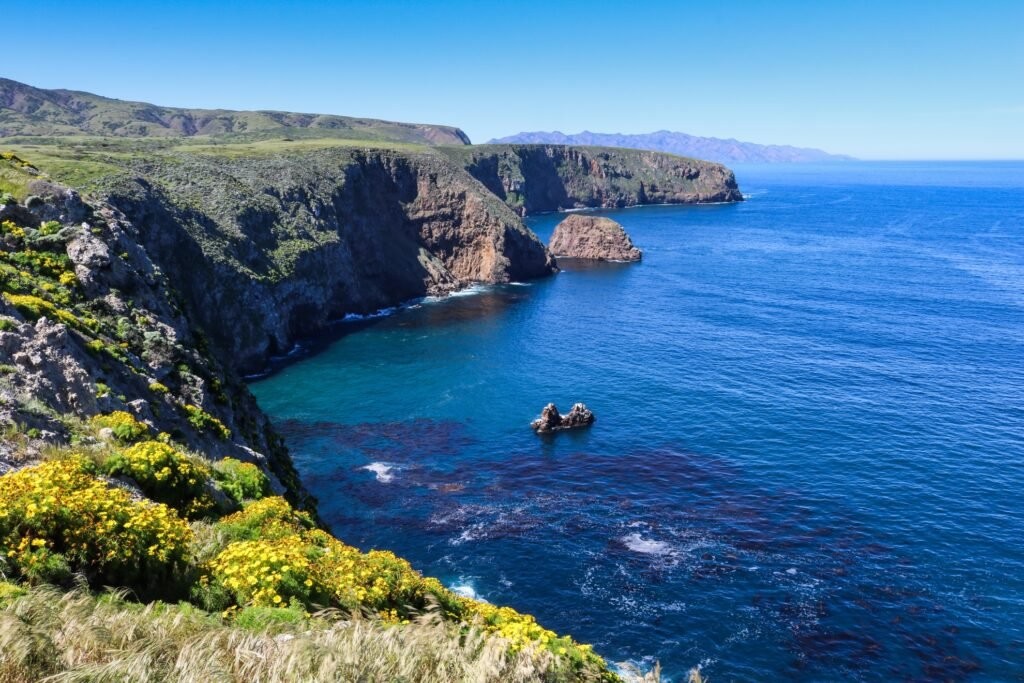 The coast of Channel Islands National Park.