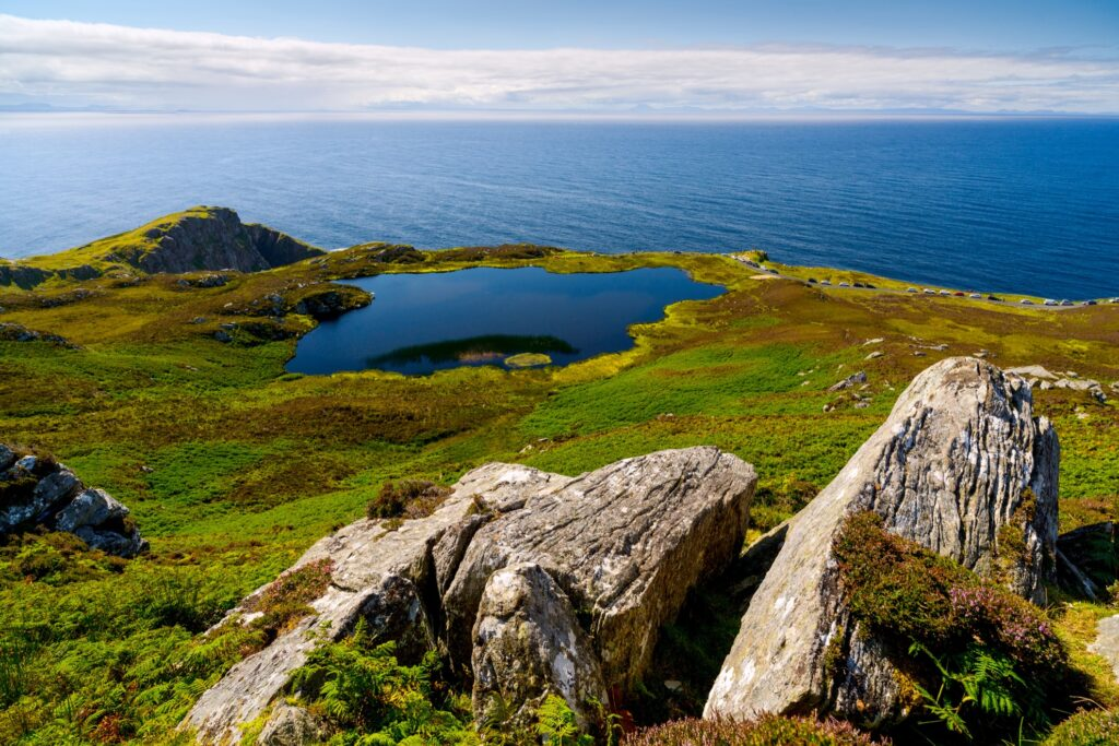 The coast of Donegal in Ireland.