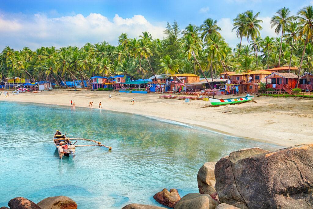 The coast of Goa, India.