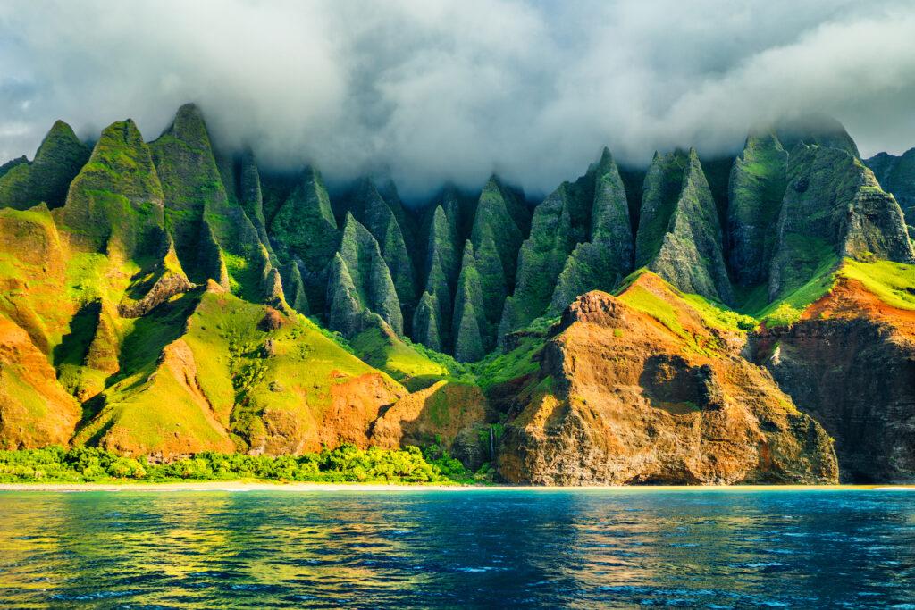 The coast of Hawaii.