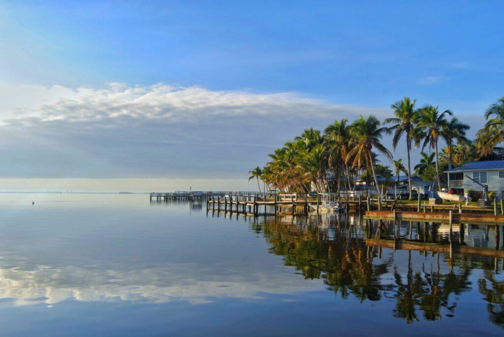 The coast of Matlacha, Florida.