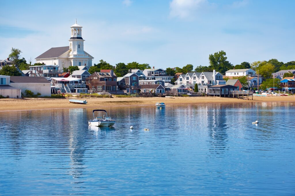 The coast of Provincetown, Massachusetts.