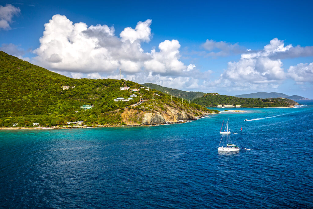 The coast of Road Town in Tortola.