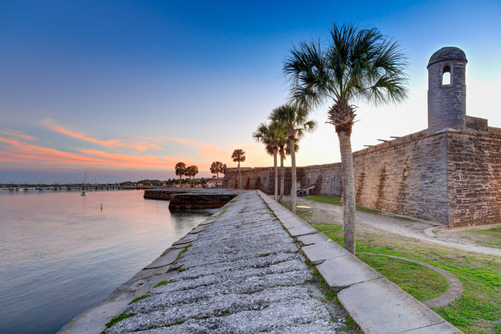 The coast of St. Augustine, Florida.