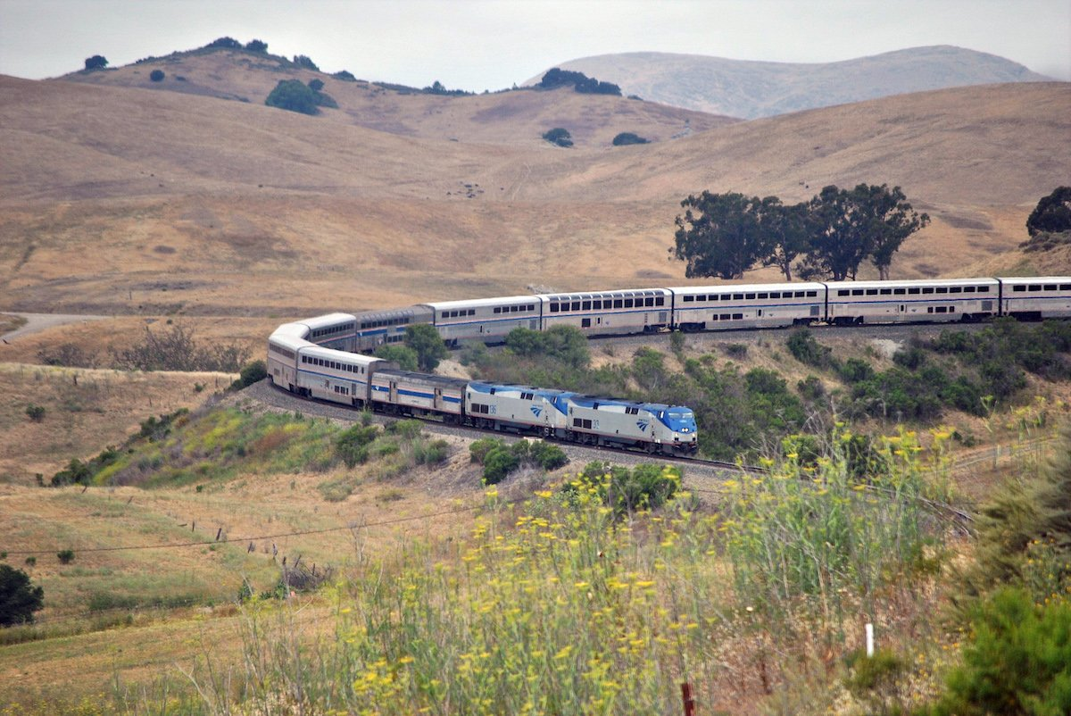 The Coast Starlight train at Horseshoe Curve.