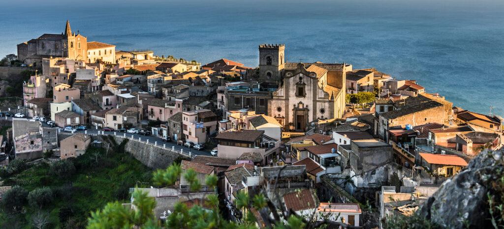 The coastal town of Forza d'Agro.