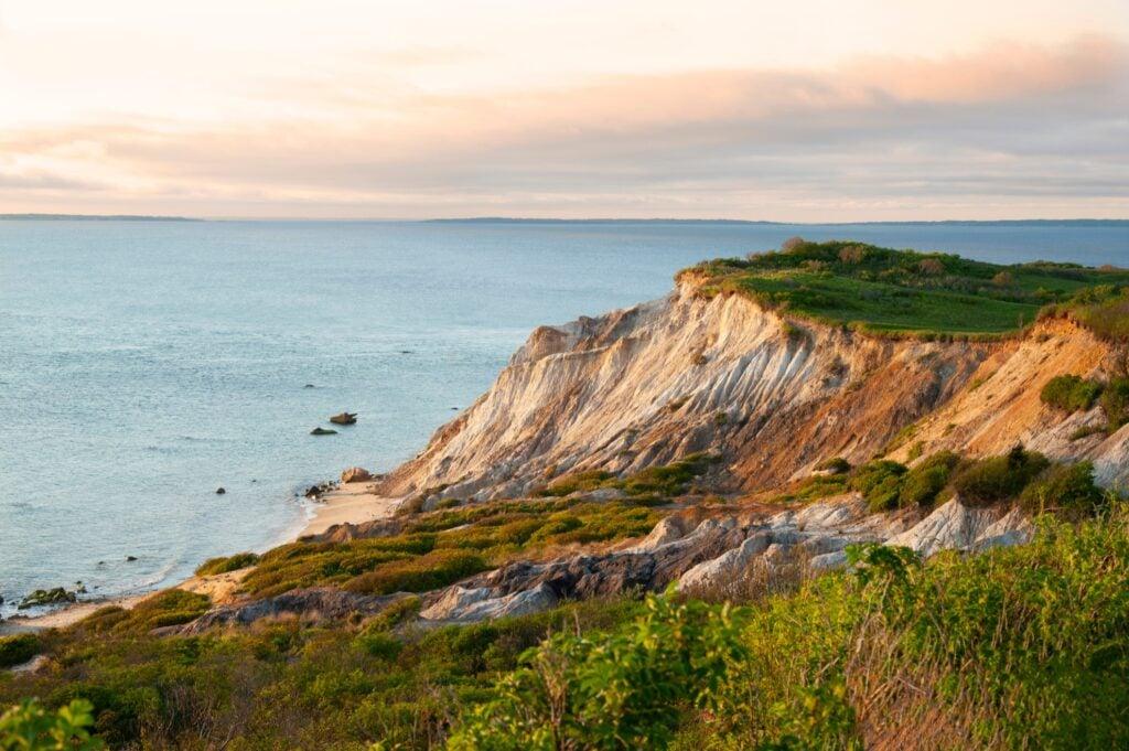 The coastline of Martha's Vineyard.
