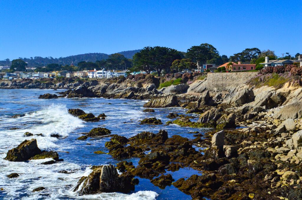 The coastline of Monterey, California.